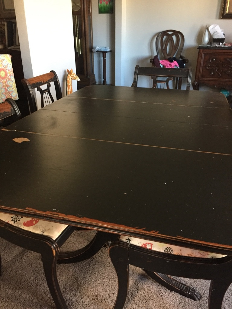 Duncan Phyfe Style Table And 6 Chairs