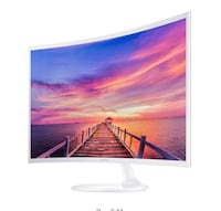 """Samsung 32"""" curved monitor, new in open box"""