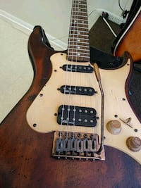 Six-String Wooden Electric Guitar