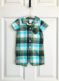 Carters baby boy plaid one piece size 12 months Mississauga, L5M 0H2