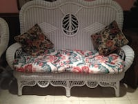 MOVING SALE:  wicker   sofa   with cushion.  Mississauga, L5L 2S5