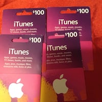 two $ 25 iTunes gift cards Toronto, M9V 1Y1