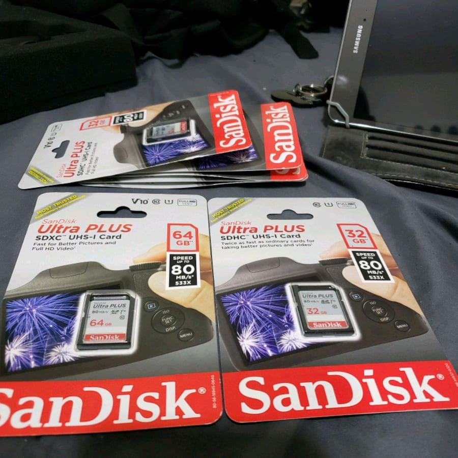 Sandisk ultra plus Class-10 memory cards