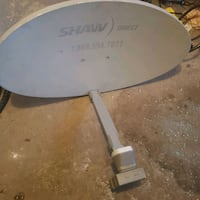 Shaw Direct satellite dish with lnb head