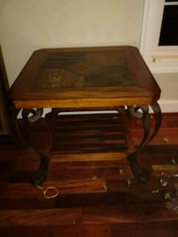 brown wooden framed glass top table Hagerstown, 21740