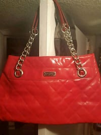 NWOT Kennith Cole Red Quilted Shoulder Purse Vancouver