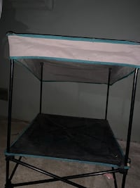 White and black canopy tent for dogs Vincent, 91722