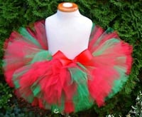 Girls pink and green tutu skirt