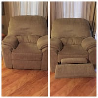 3 piece couch, love seat and recliner. All three have foot rest. $350 for the set of 3
