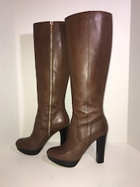 Michael Kors Knee High Platform Boots (Brown,7.5M) Milton, L9T 4K1