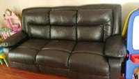 3 seater recliner leather couch Surrey, V3T 5Y1