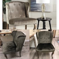 Velvet grey accent chair  Germantown, 20874
