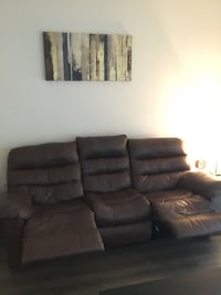 Brown Leather Recliner Couch Sanford, 32771