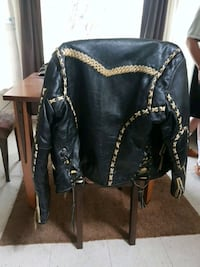 black leather jacket with designs Winnipeg, R2V