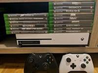Xbox one s (15 games) 2 controllers. Best offer  Toronto