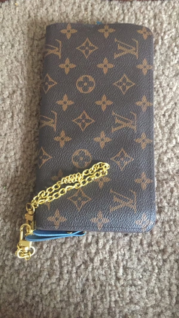 241e9d16ab2ae2 Used blue and brown leather wallet for sale in Riverdale - letgo