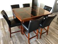 6 seat marble top dining table Horizon City, 79928