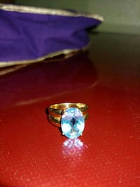 silver and blue gemstone ring Las Vegas, 89123