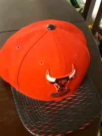 Snap back hat bulls