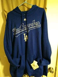 blue and yellow Los Angeles Dodgers zip-up jacket Montebello, 90640