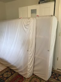 white and gray bed mattress