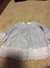 blue and white dress 12-18 m Rockville
