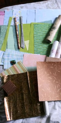 Dollhouse wallpaper flooring & trim