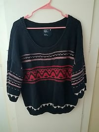 black and red knitted striped sweater Biddeford, 04005