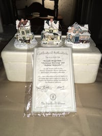Set of 3 New Thomas Kinkade  ornaments w/ certificate......Wb Meet only Wilkes-Barre, 18702