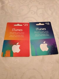 iTunes Gift Cards $40 value will sell for $30