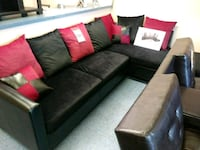 New red and black sectional sofa San Antonio, 78217