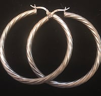 Sterling silver large swirl hoops Silver Spring, 20904