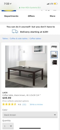 brown wooden coffee table screenshot Los Angeles, 90065