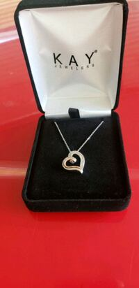 Diamond Heart Necklace Sterling Silver/10k Rose Gold