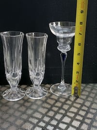 3 Crystal candle holders Burlington, L7L 6H8