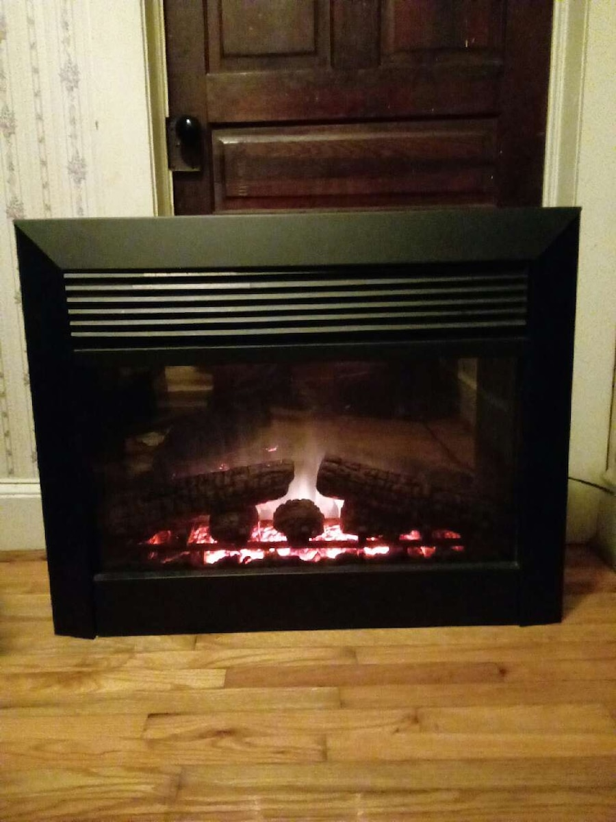 used dimplex electric fireplace insert model dfb6016 wi in