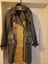 stylish trench coat size fits a small/med $40
