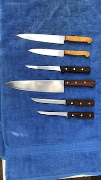 Black and brown kitchen knives EUGENE