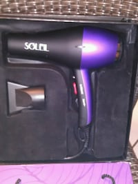 black and purple soleil hair dryer 3151 km