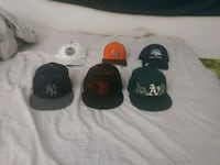 3 fitted, 2 snap back and 1 flex fit hats. North Las Vegas, 89081