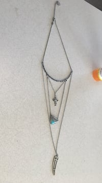 white and blue pendant necklace Moccasin, 59462