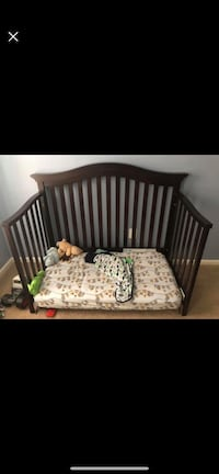Baby's brown wooden crib Sterling, 20165