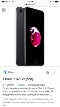iPhone7 32 GB pent brukt Bergen, 5075