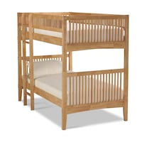 Solid Brazilian Maple Bunk Bed