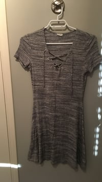 Women's Small Grey tie up dress