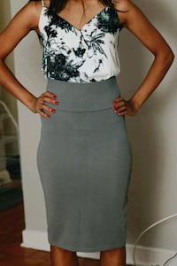 Grey pencil skirt - soft and stretchy - M London, N6A 3L5