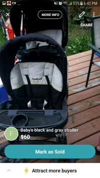 baby's black and gray car seat carrier screenshot Edmonton, T5T 1P8