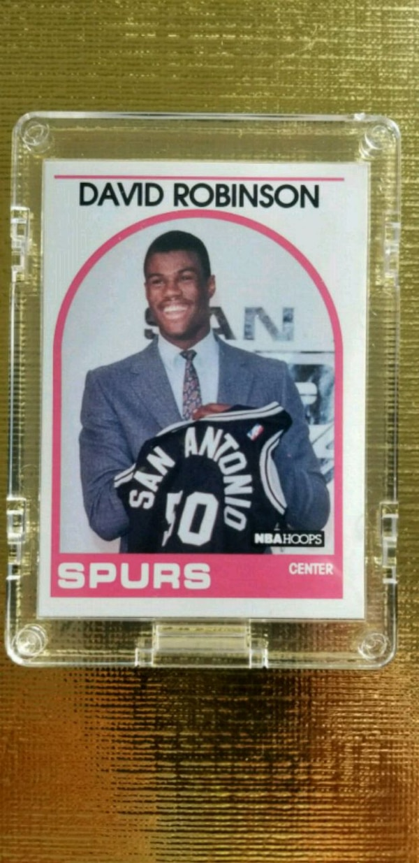 1989 David Robinson Nba Hoops Rookie Card