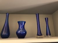 Two blue and white ceramic vases Denver, 80205