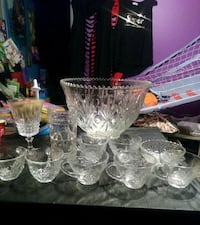 Glass Punch Bowl Set Greensboro